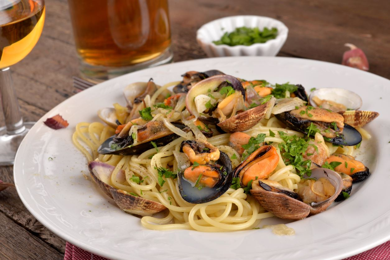 Clams & Mussels in a White Wine/Elixir Broth